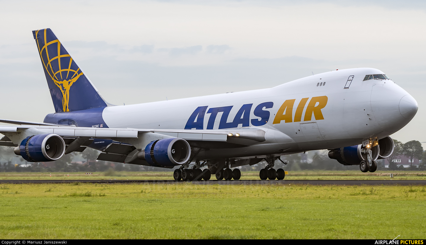 Atlas Air N412MC aircraft at Amsterdam - Schiphol