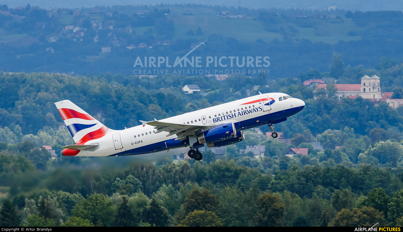 British Airways G-EUPA aircraft at Kraków - John Paul II Intl