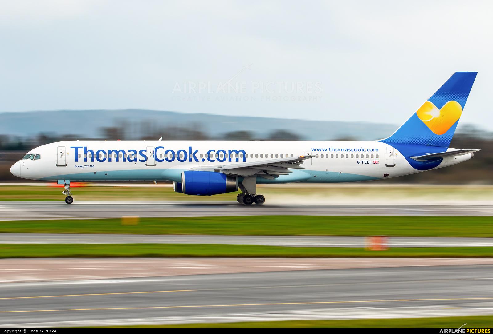 Thomas Cook G-FCLI aircraft at Manchester