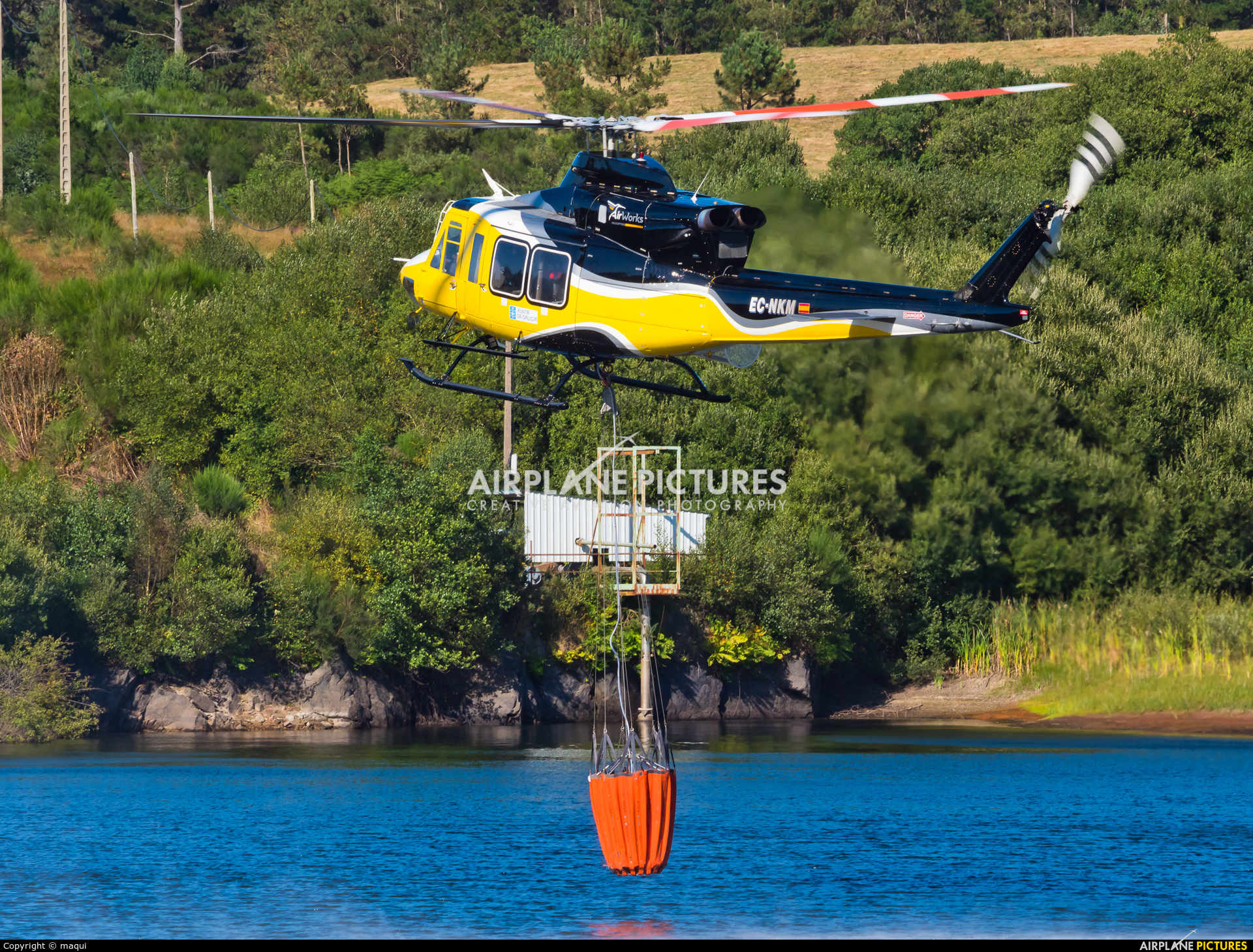 AirWorks Helicopters EC-NKM aircraft at La Coruña - Off Airport