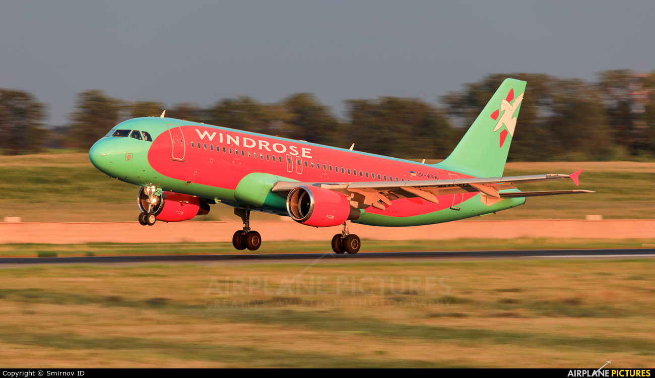 Windrose Air UR-WRW aircraft at Kyiv - Borispol