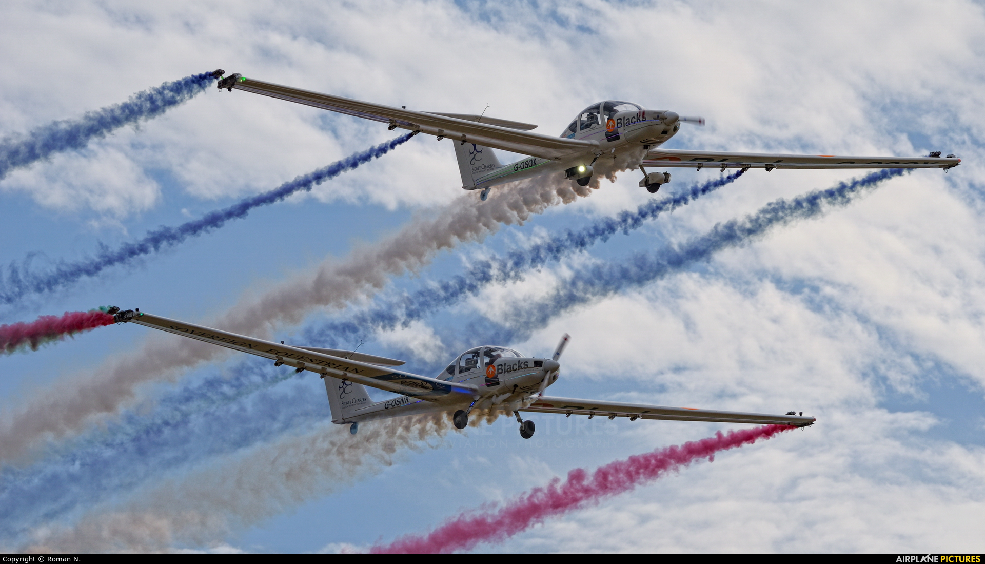 Aerosparx Display Team G-OSOX aircraft at Leszno - Strzyżewice