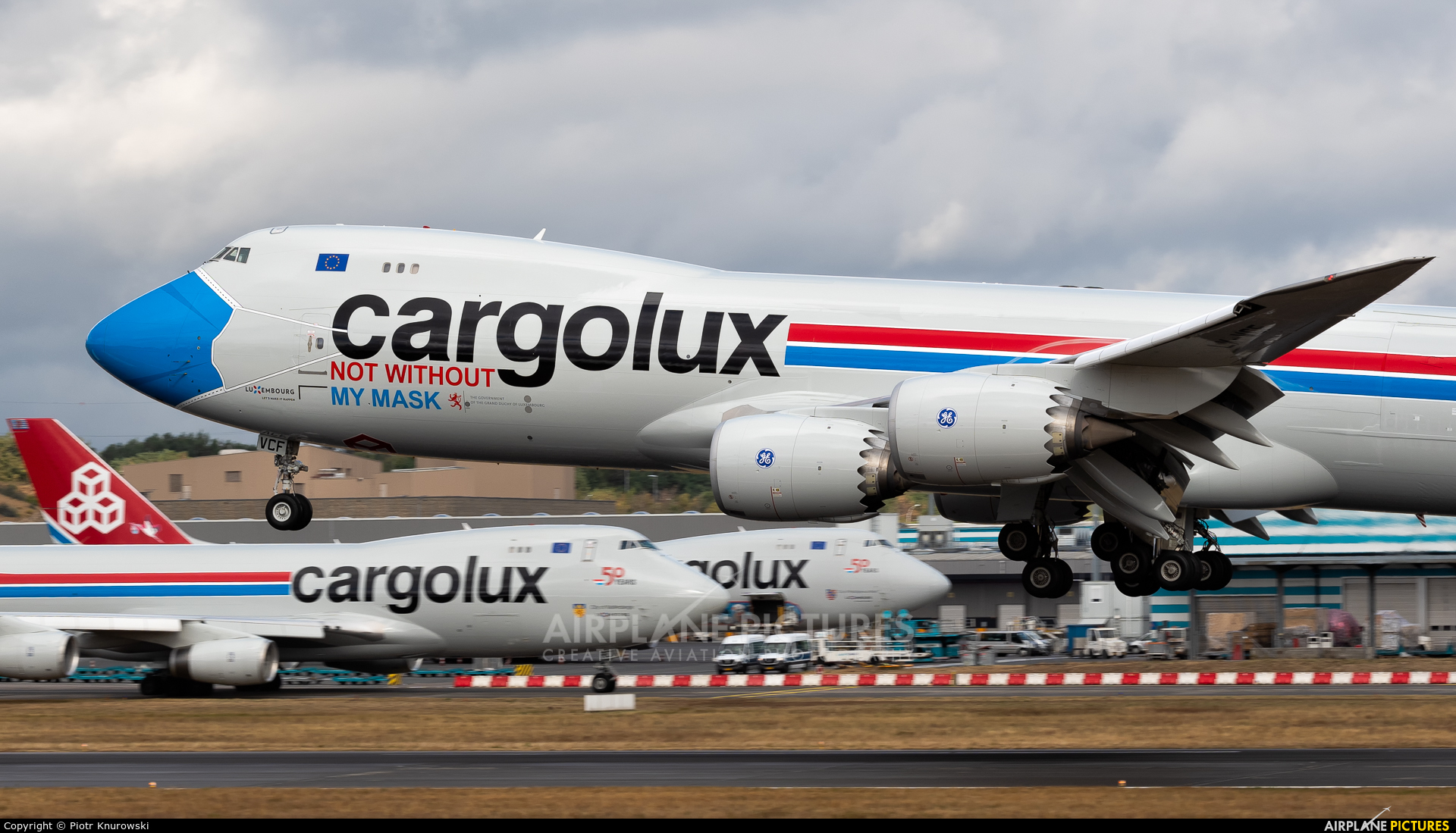Cargolux LX-VCF aircraft at Luxembourg - Findel