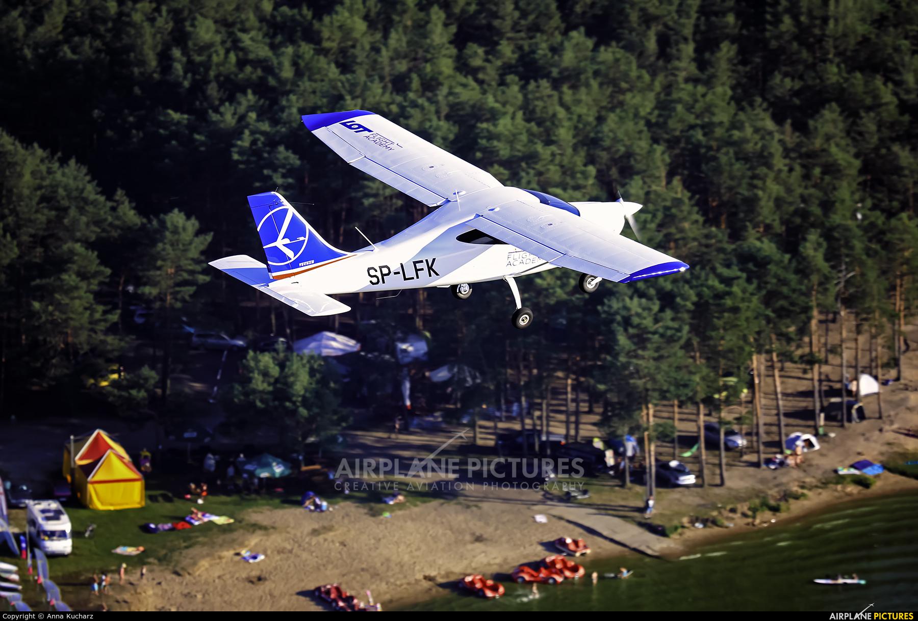 LOT Flight Academy SP-LFK aircraft at Piotrków Trybunalski
