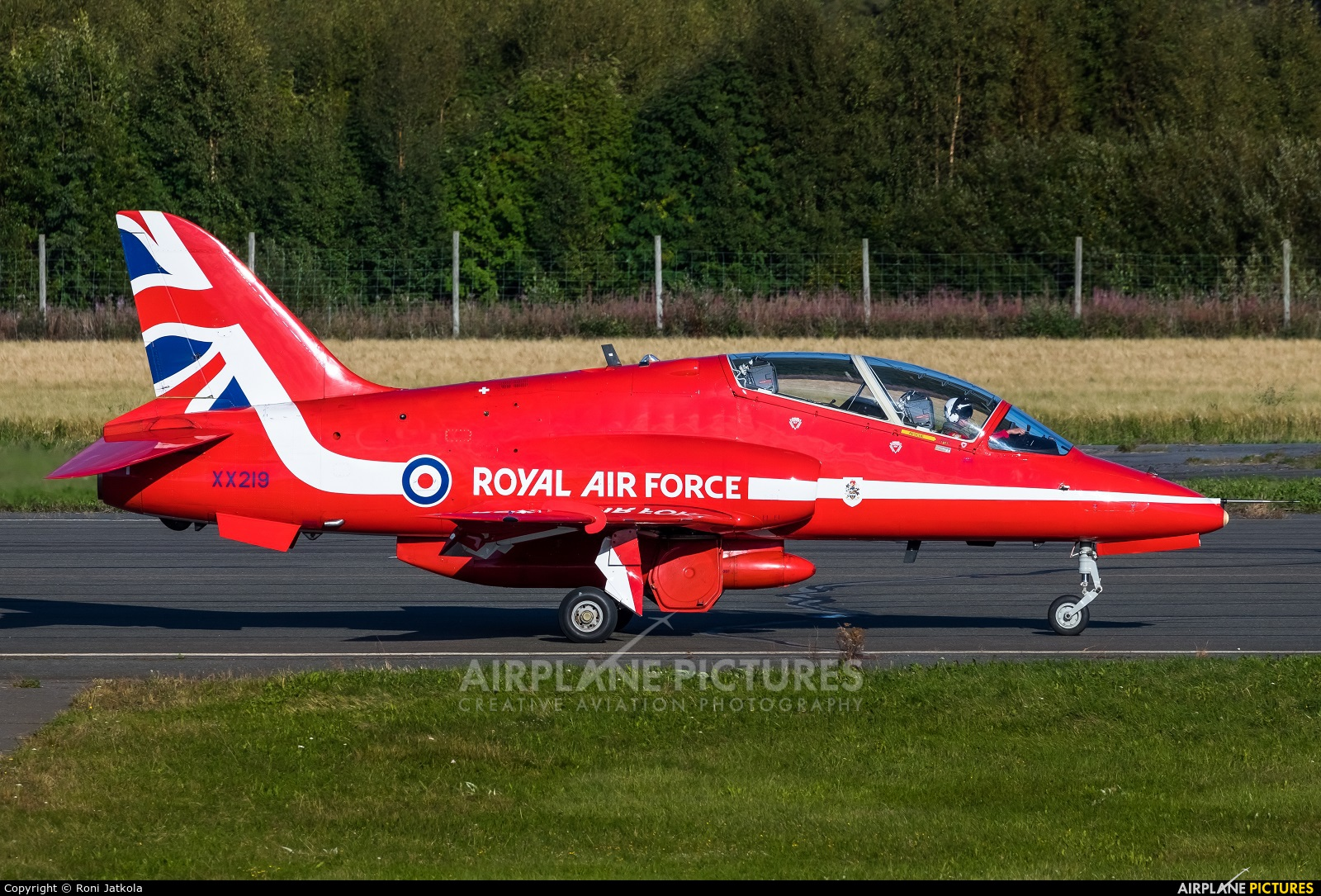 "Royal Air Force ""Red Arrows"" XX219 aircraft at Kauhava"