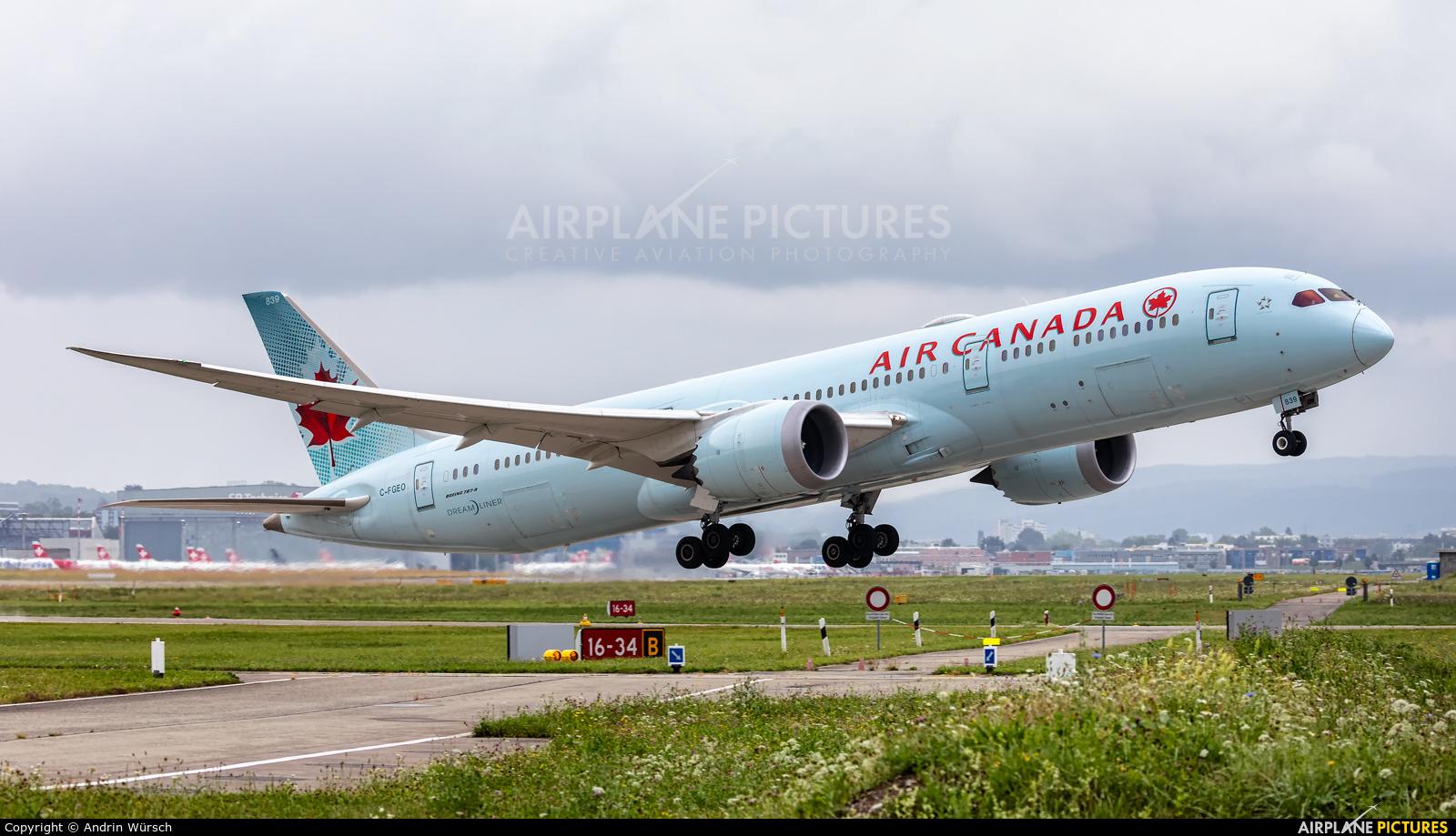 Air Canada C-FGEO aircraft at Zurich