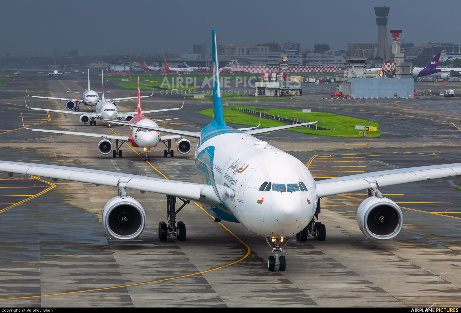 Oman Air A4O-DB aircraft at Mumbai - Chhatrapati Shivaji Intl