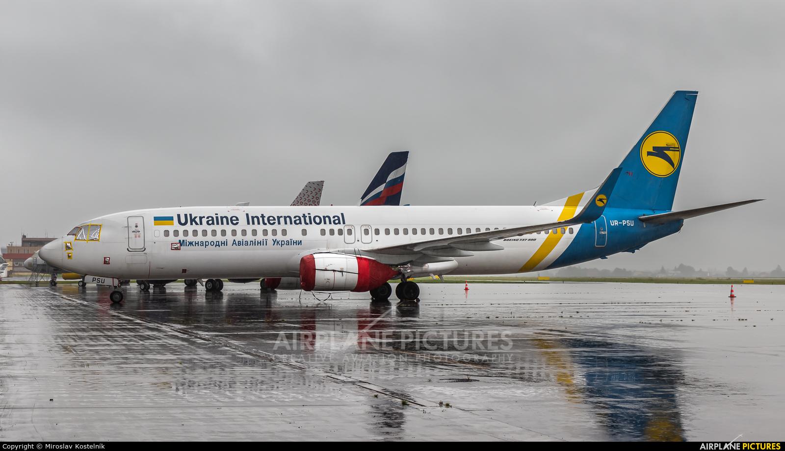 Ukraine International Airlines UR-PSU aircraft at Ostrava Mošnov