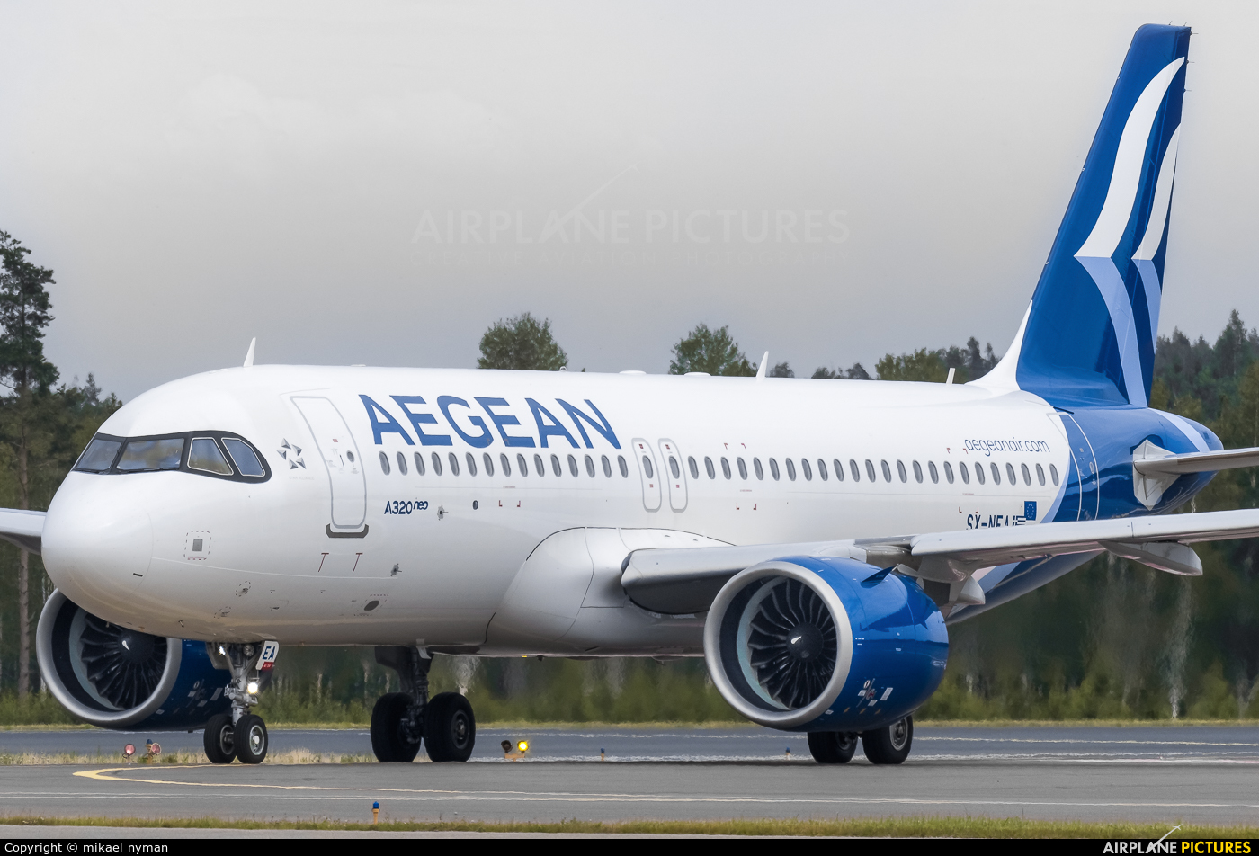 SX-NEA - Aegean Airlines Airbus A320 NEO at Helsinki - Vantaa | Photo ID  1331141 | Airplane-Pictures.net