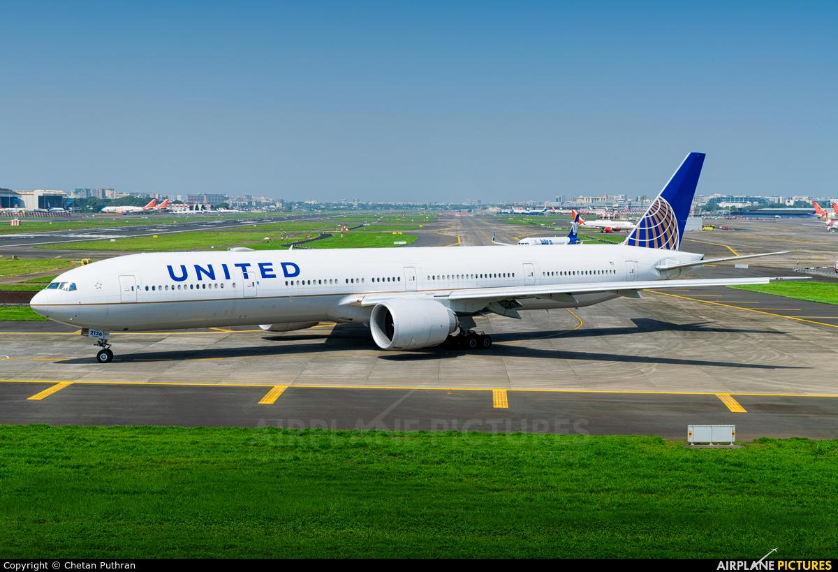 United Airlines N2136U aircraft at Mumbai - Chhatrapati Shivaji Intl