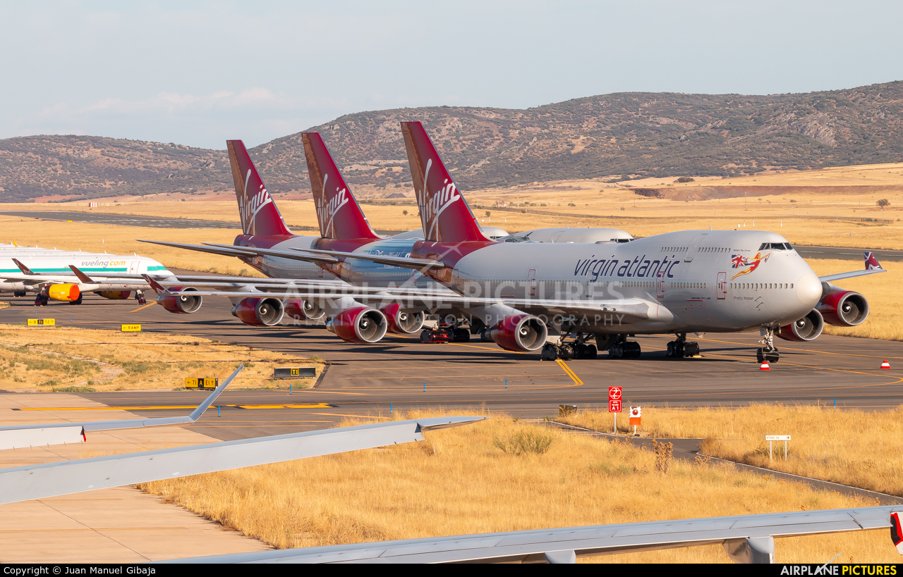 Virgin Atlantic G-VROY aircraft at Ciudad Real
