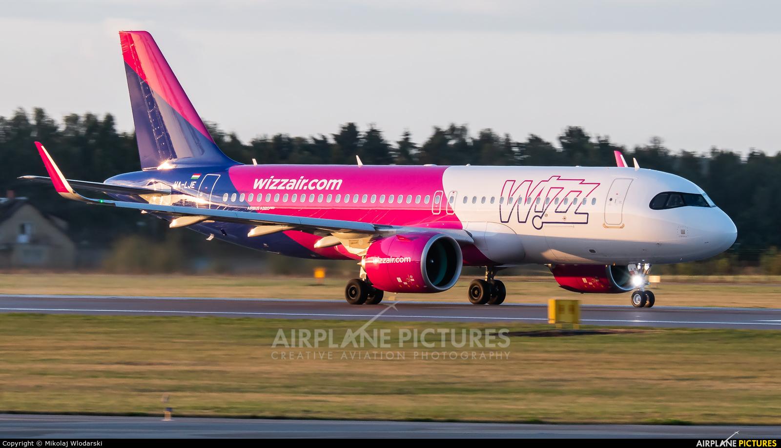 Wizz Air HA-LJE aircraft at Gdańsk - Lech Wałęsa