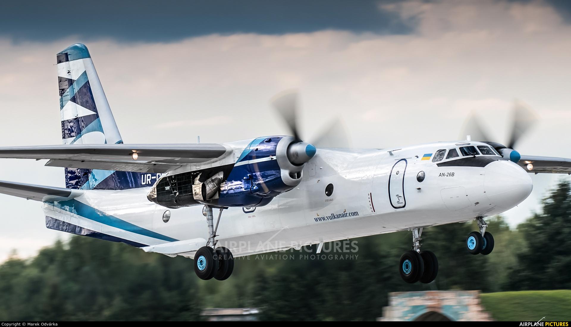 Vulkan Air UR-CQD aircraft at Pardubice