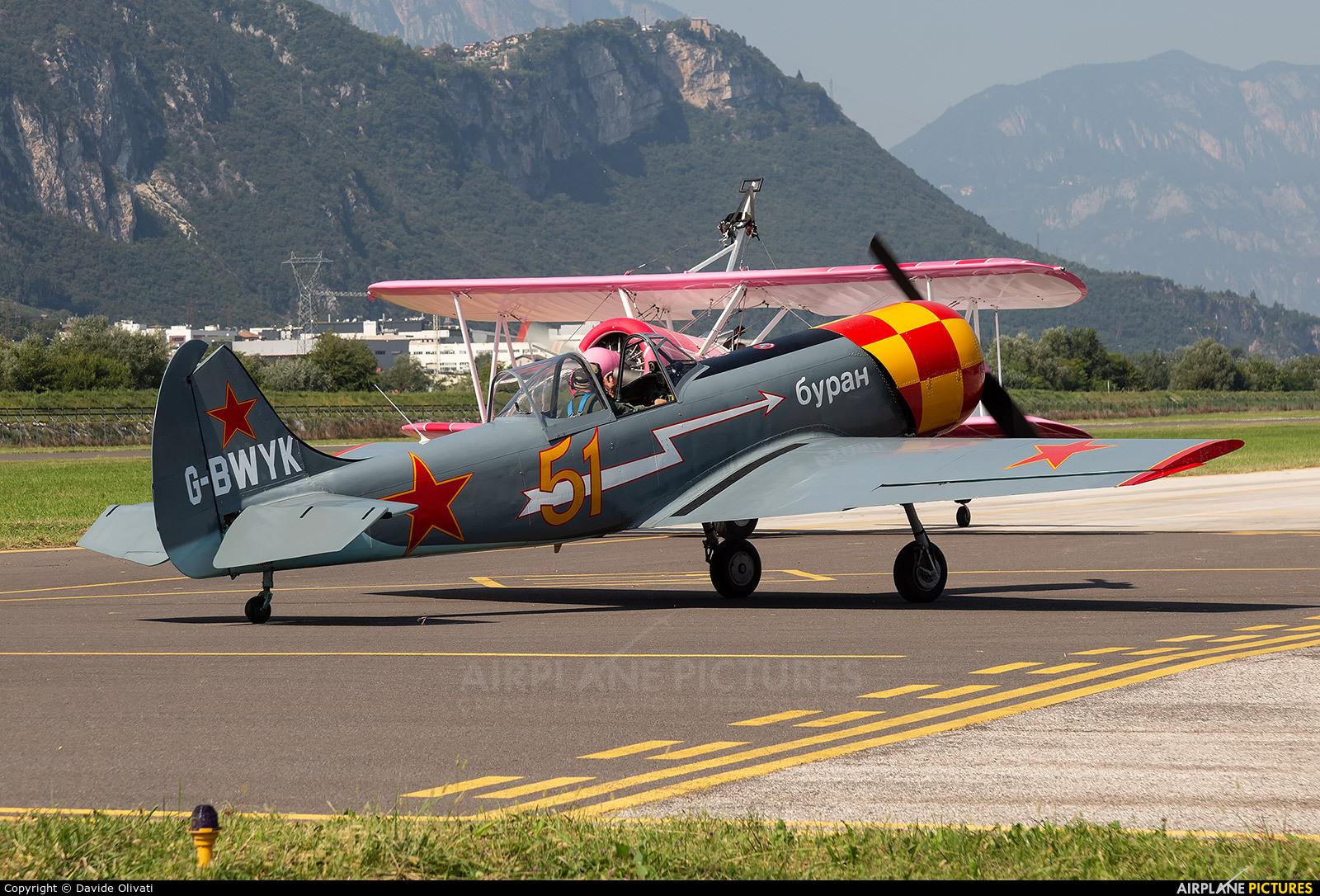 Private G-BWYK aircraft at Trento - Mattarello