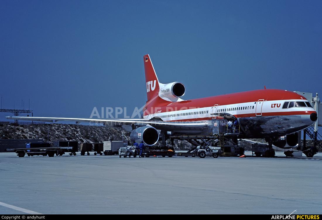 LTU D-AERT aircraft at Los Angeles Intl