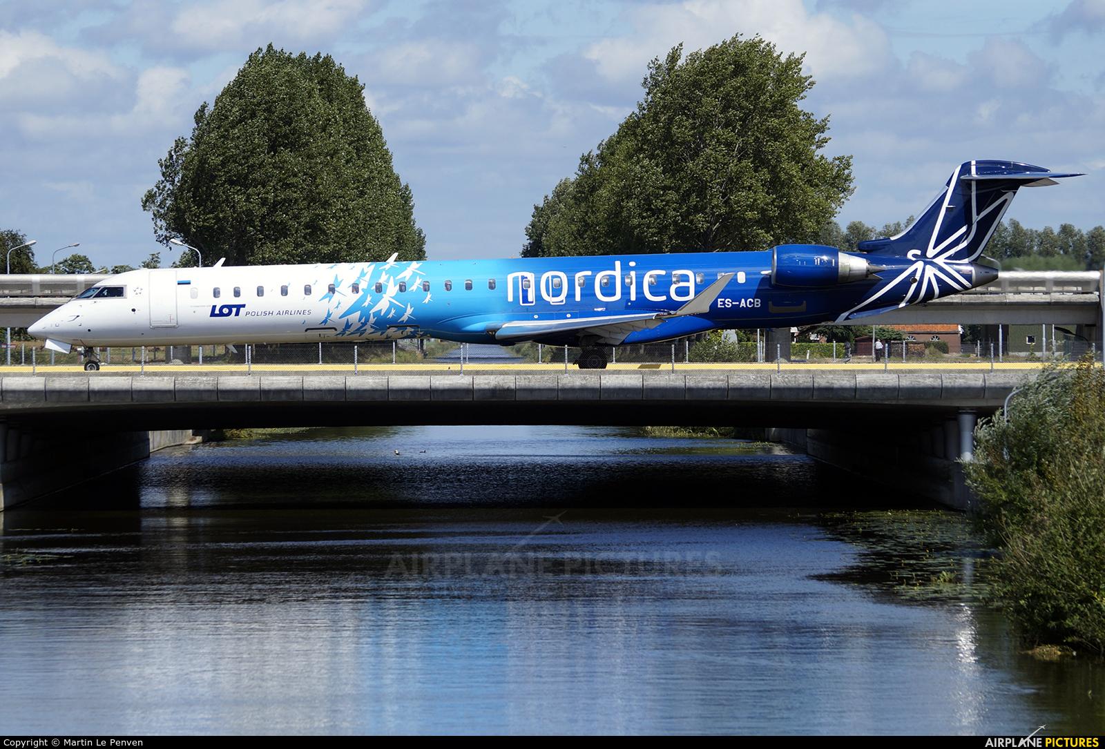 Nordica ES-ACB aircraft at Amsterdam - Schiphol