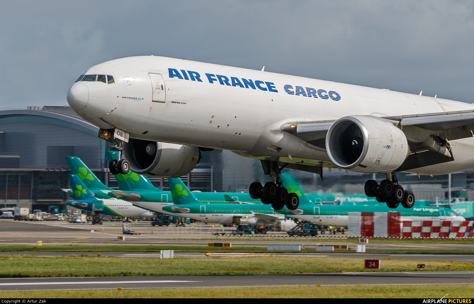 Air France Cargo F-GUOB aircraft at Dublin