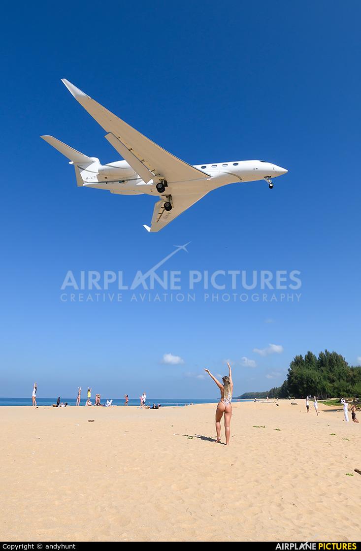 Private M-VITB aircraft at Phuket