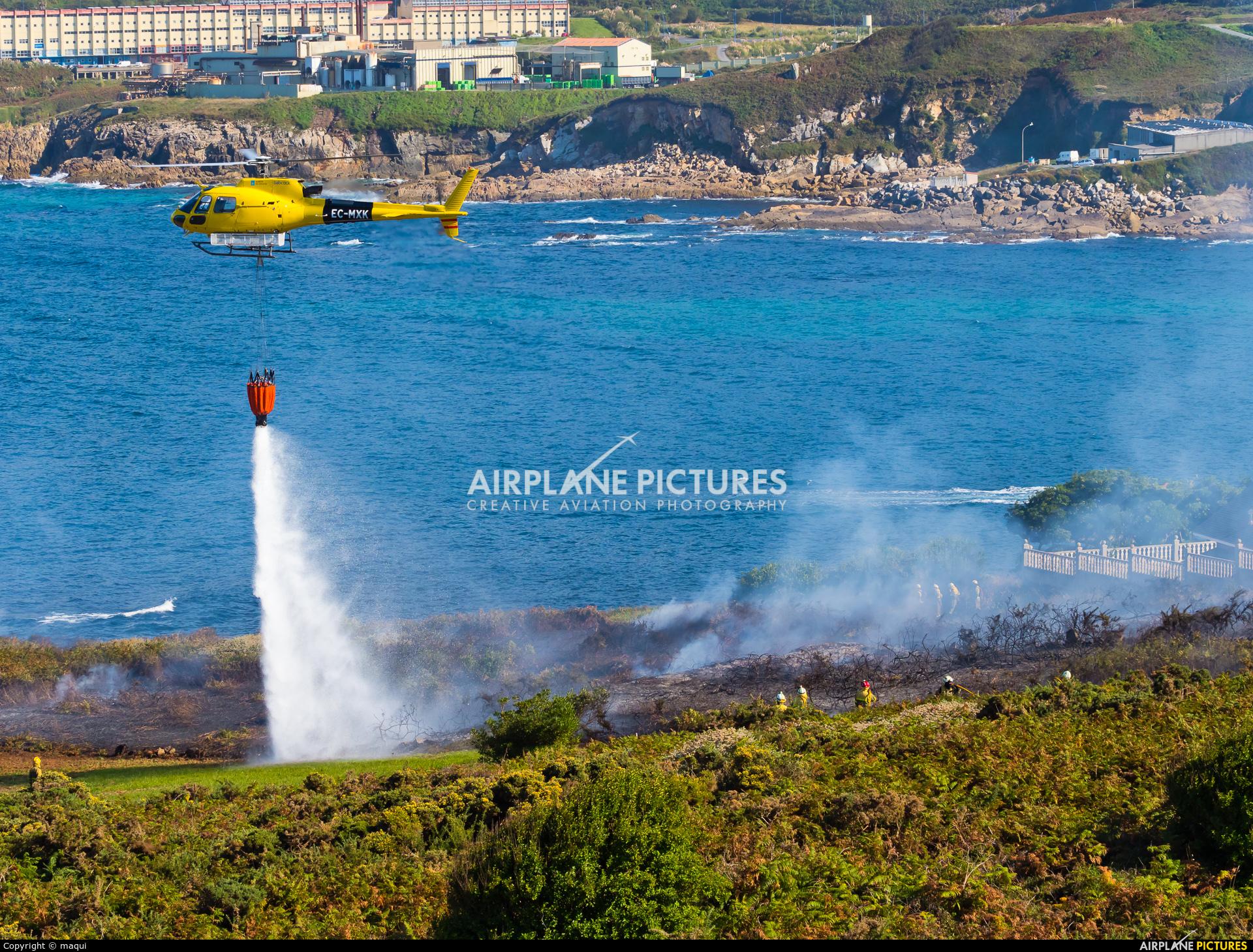Babcock M.C.S. Spain EC-MXK aircraft at La Coruña - Off Airport