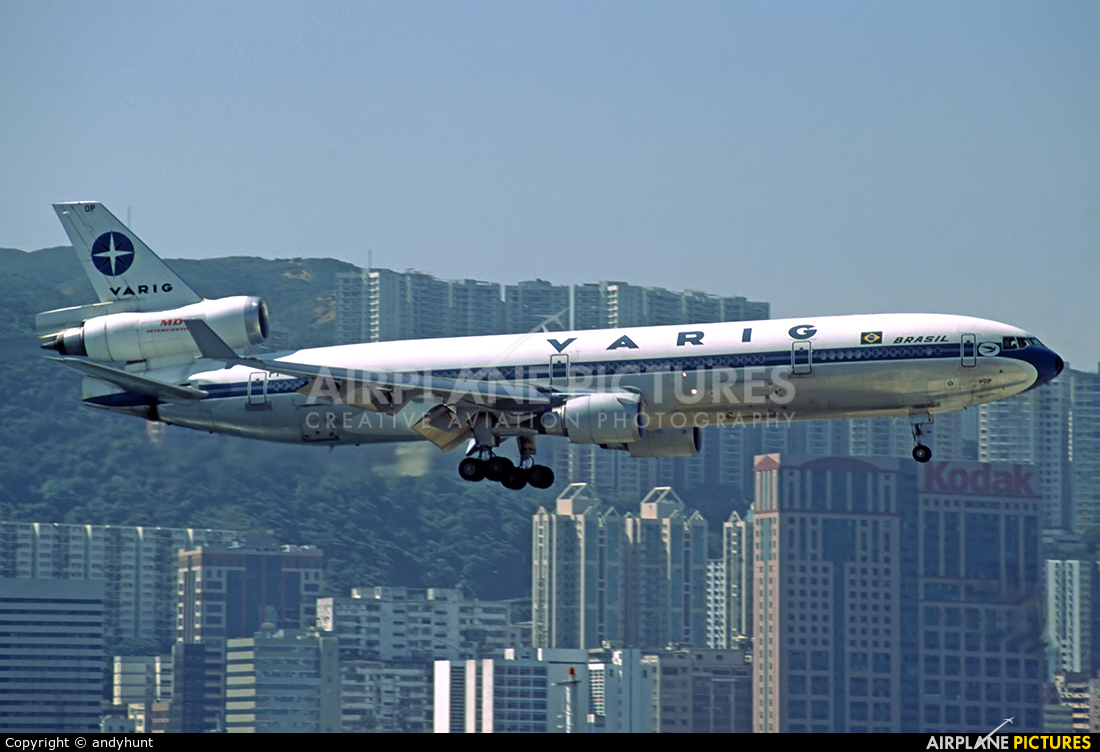 VARIG PP-VOP aircraft at HKG - Kai Tak Intl CLOSED