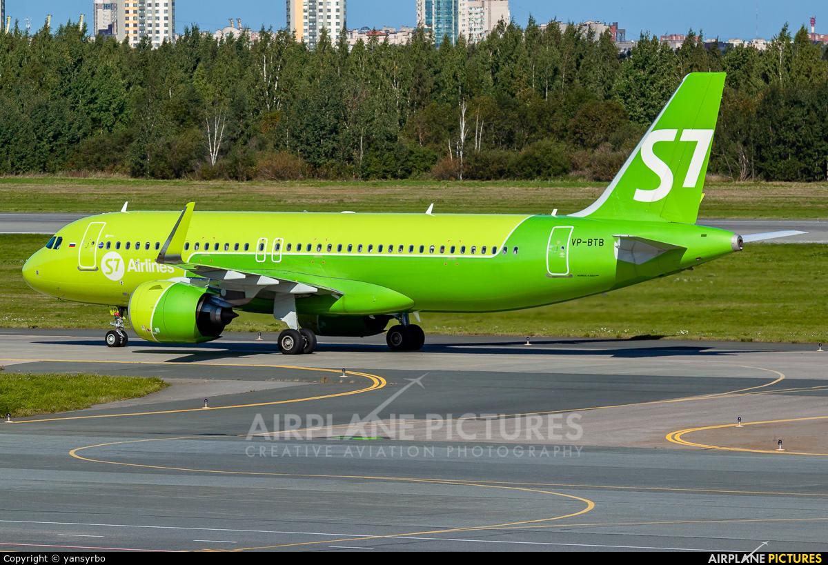 S7 Airlines VP-BTB aircraft at St. Petersburg - Pulkovo