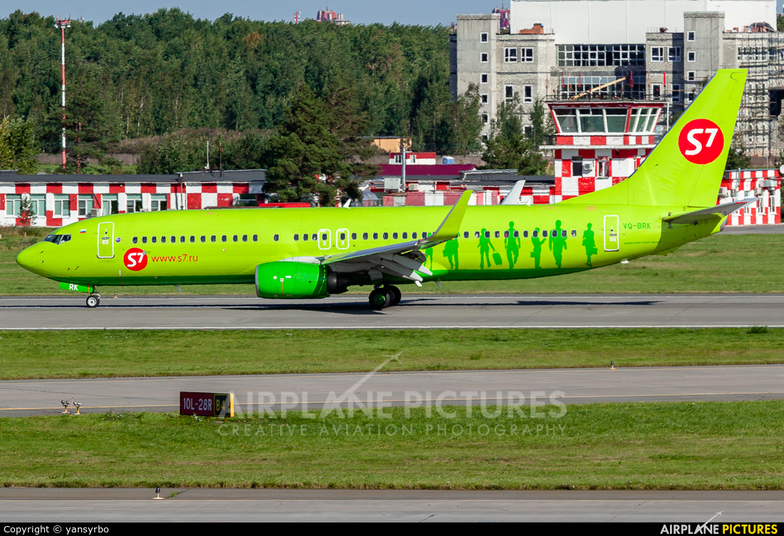 S7 Airlines VQ-BRK aircraft at St. Petersburg - Pulkovo