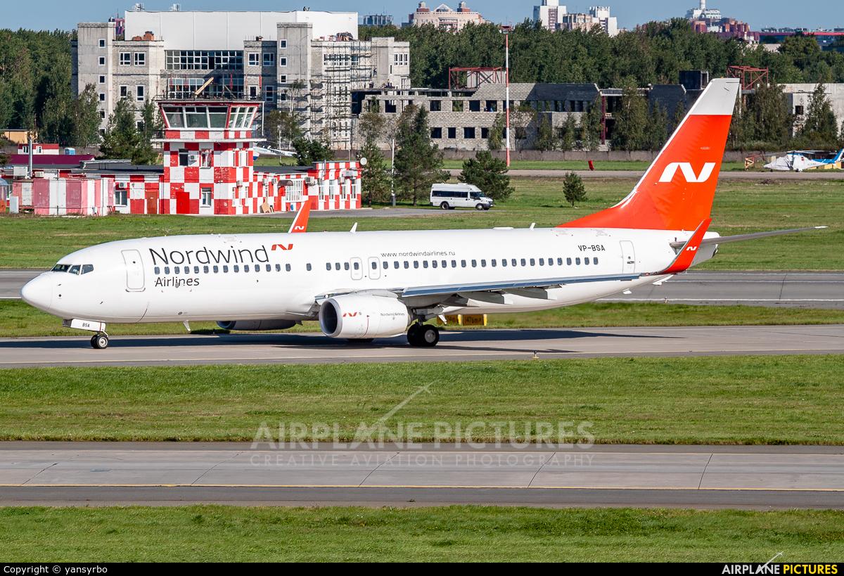 Nordwind Airlines VP-BSA aircraft at St. Petersburg - Pulkovo