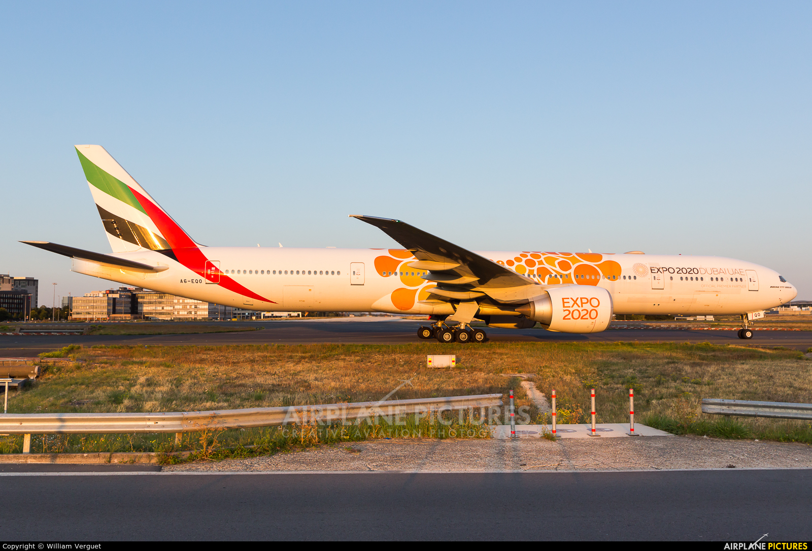 Emirates Airlines A6-EQO aircraft at Paris - Charles de Gaulle