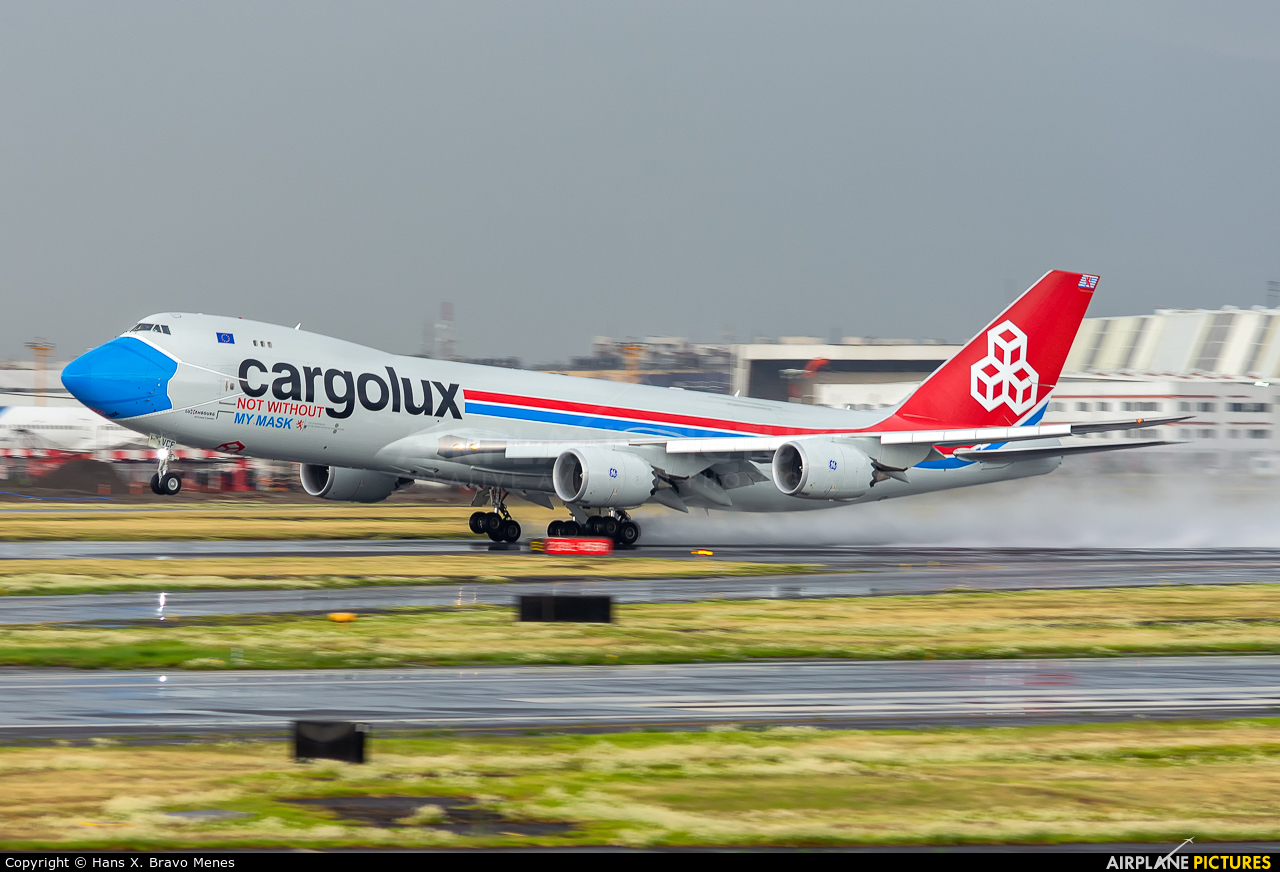 Cargolux LX-VCF aircraft at Mexico City - Licenciado Benito Juarez Intl
