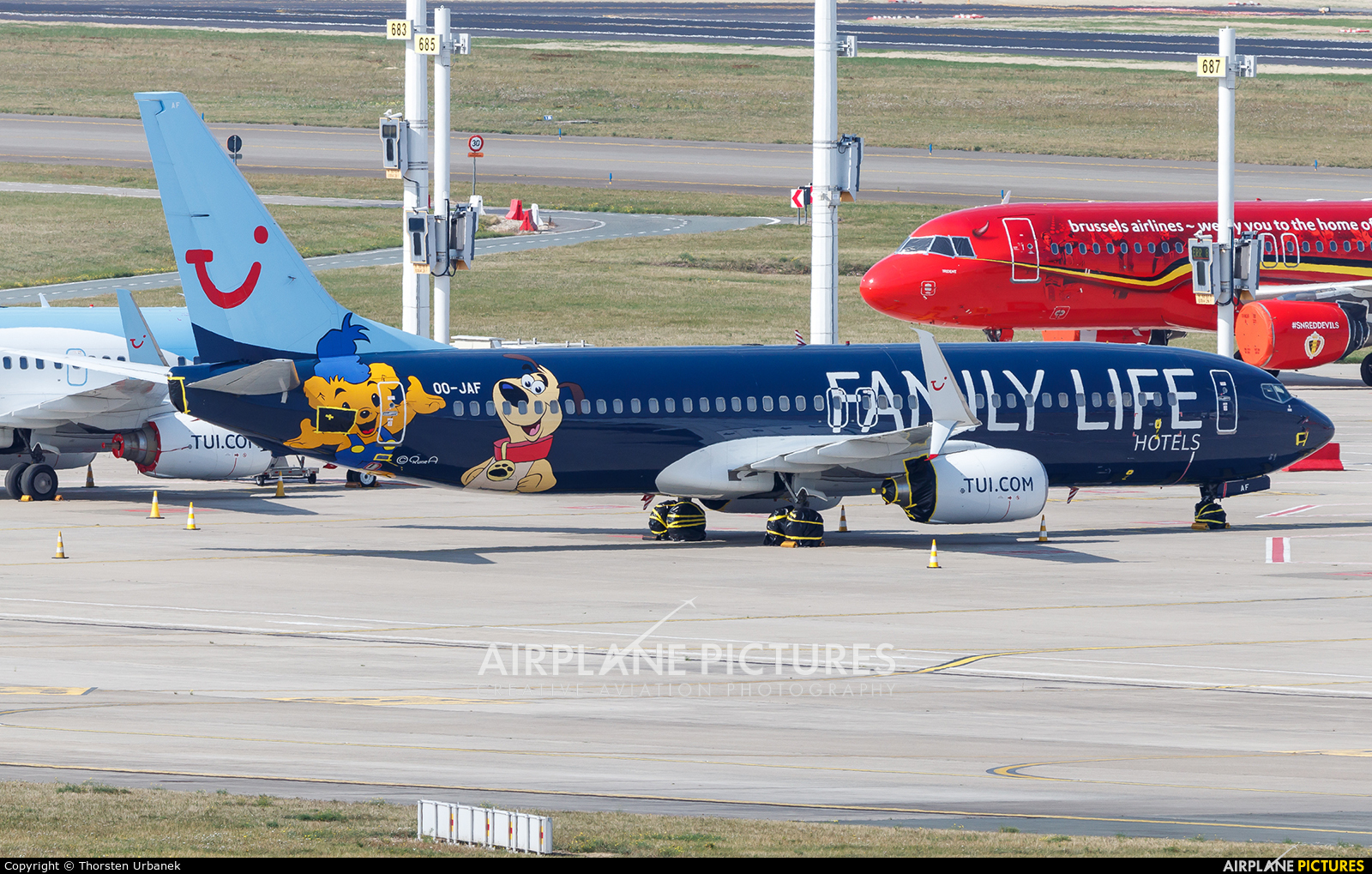 TUI Airlines Belgium OO-JAF aircraft at Brussels - Zaventem