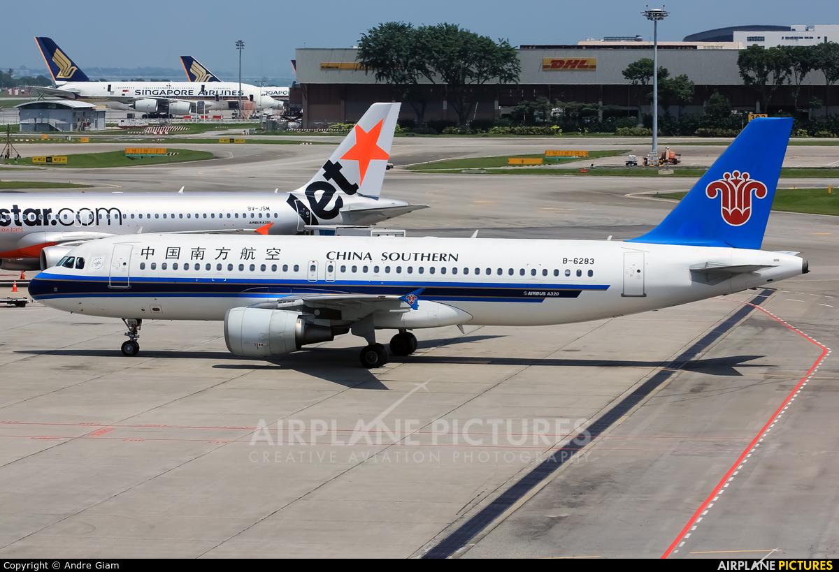 China Southern Airlines B-6283 aircraft at Singapore - Changi