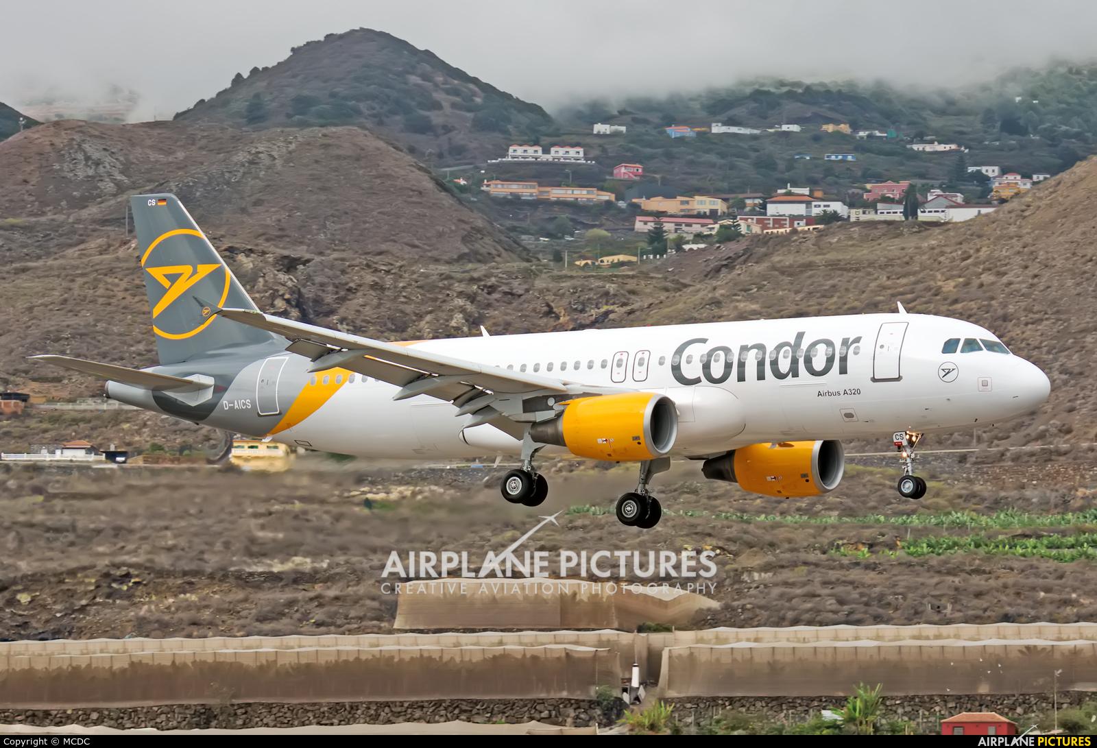 Condor D-AICS aircraft at Santa Cruz de La Palma