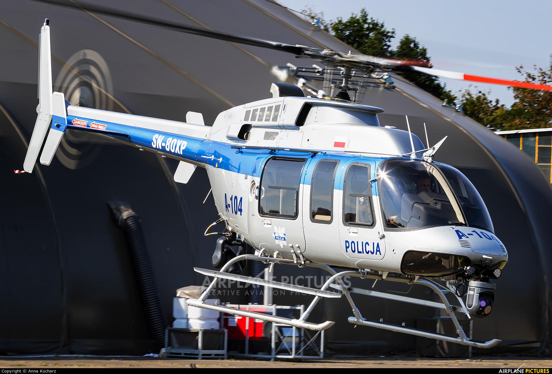Poland - Police SN-80XP aircraft at Warsaw - Babice