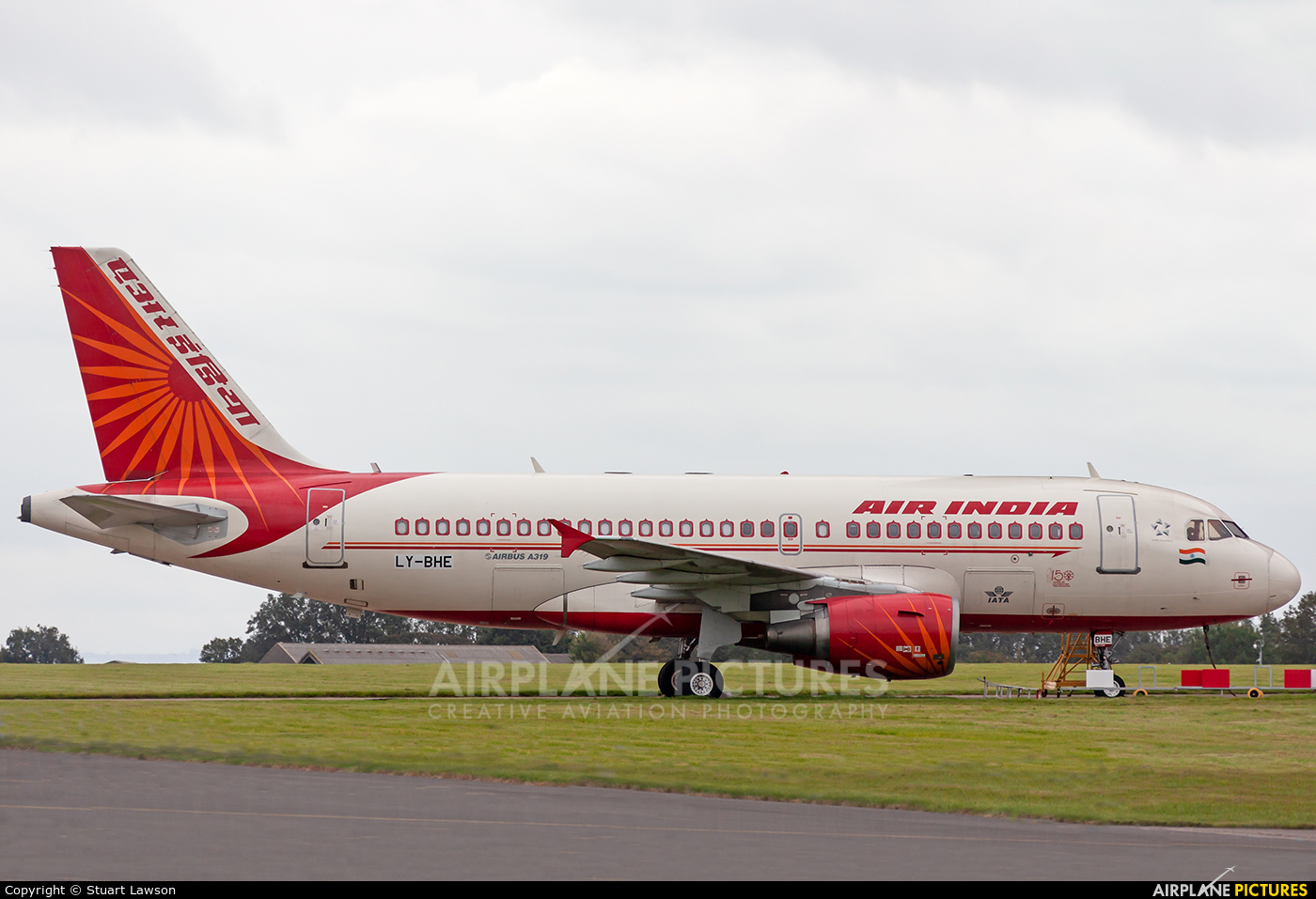 Air India LY-BHE aircraft at St Athan