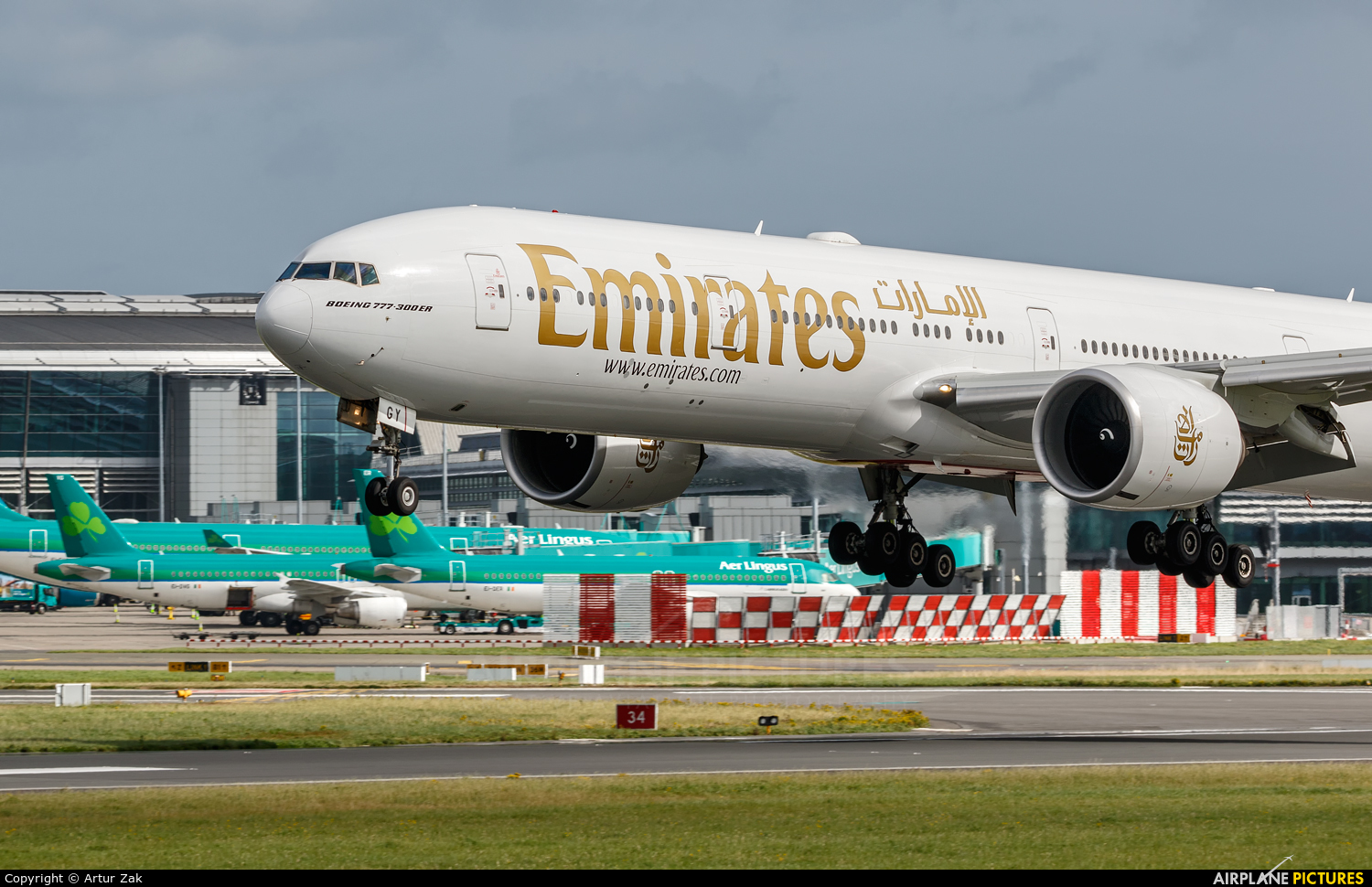 Emirates Airlines A6-EGY aircraft at Dublin