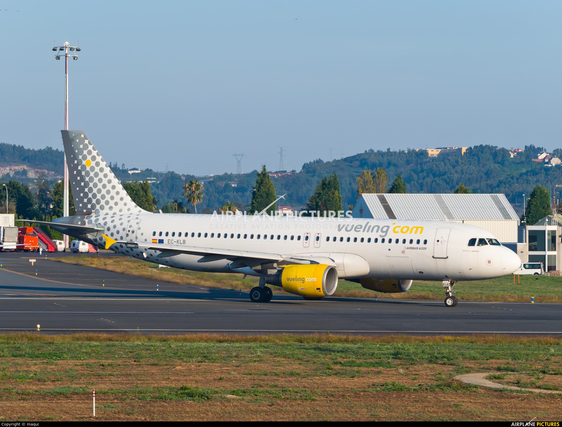 Vueling Airlines EC-KLB aircraft at La Coruña