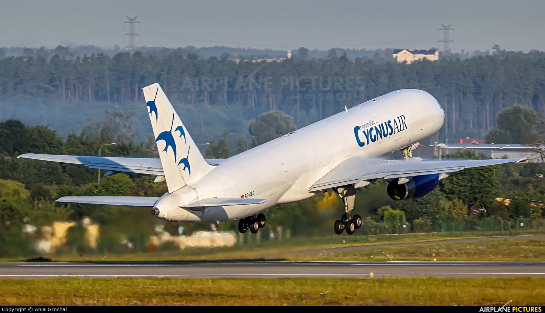 Cygnus Air EC-KLD aircraft at Gdańsk - Lech Wałęsa