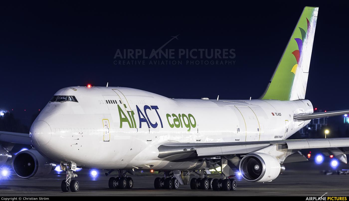 ACT Cargo TC-ACF aircraft at Helsinki - Vantaa