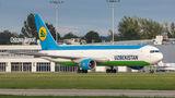 Uzbekistan Airways Boeing 767-300 UK67002 at Ostrava Mošnov airport