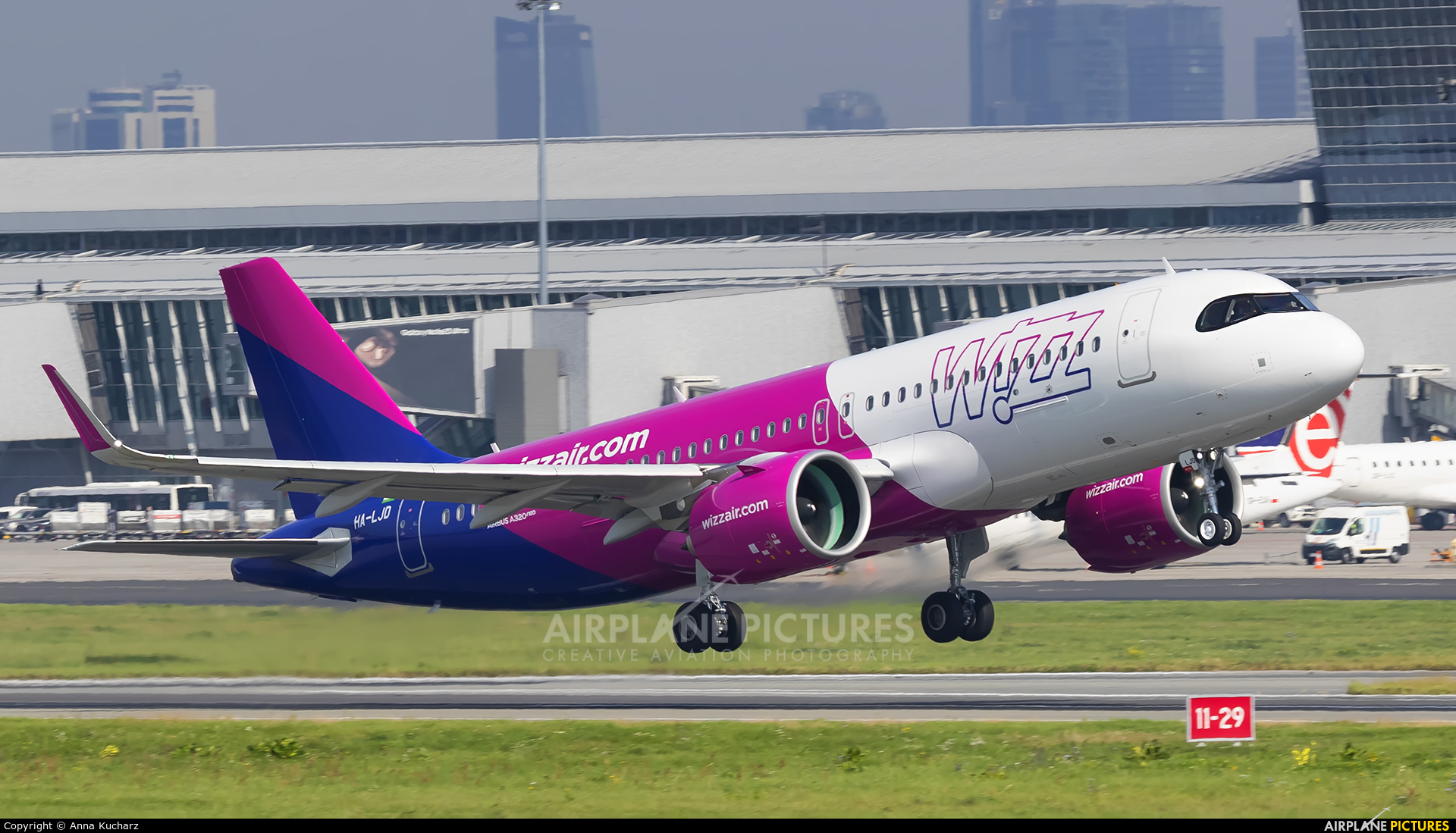 Wizz Air HA-LJD aircraft at Warsaw - Frederic Chopin