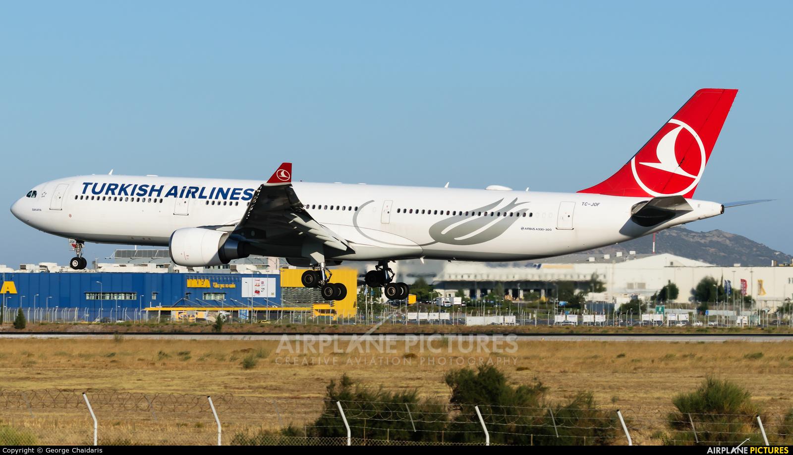 Turkish Airlines TC-JOF aircraft at Athens - Eleftherios Venizelos