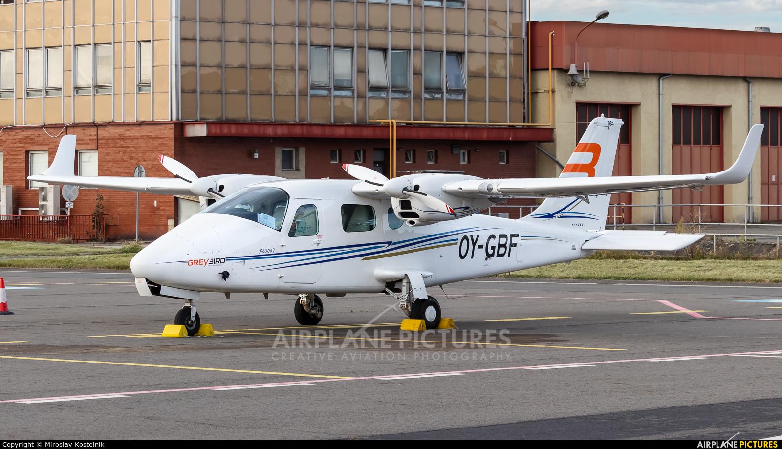 Private OY-GBF aircraft at Ostrava Mošnov