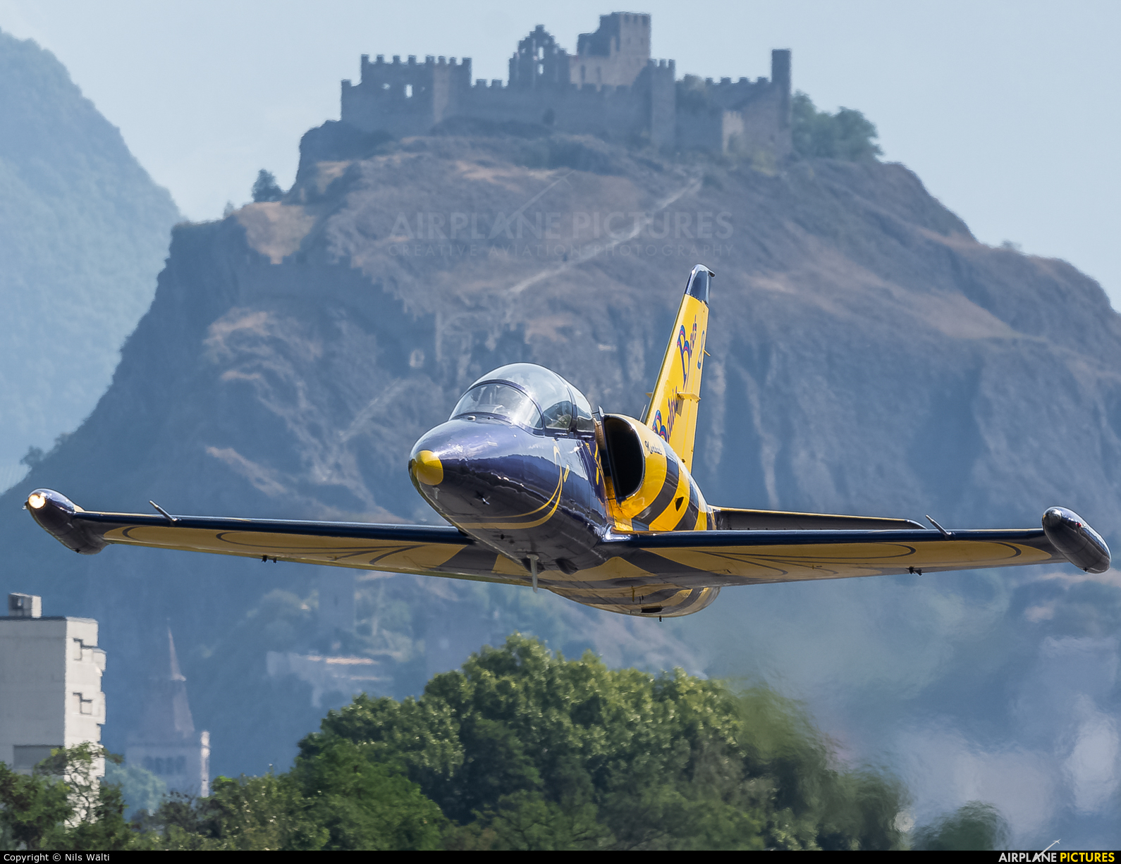 Baltic Bees Jet Team YL-KSK aircraft at Sion
