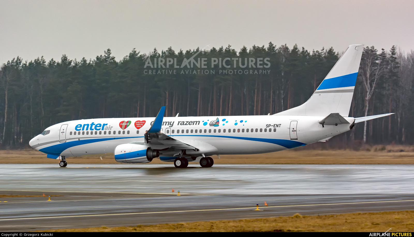Enter Air SP-ENT aircraft at Katowice - Pyrzowice