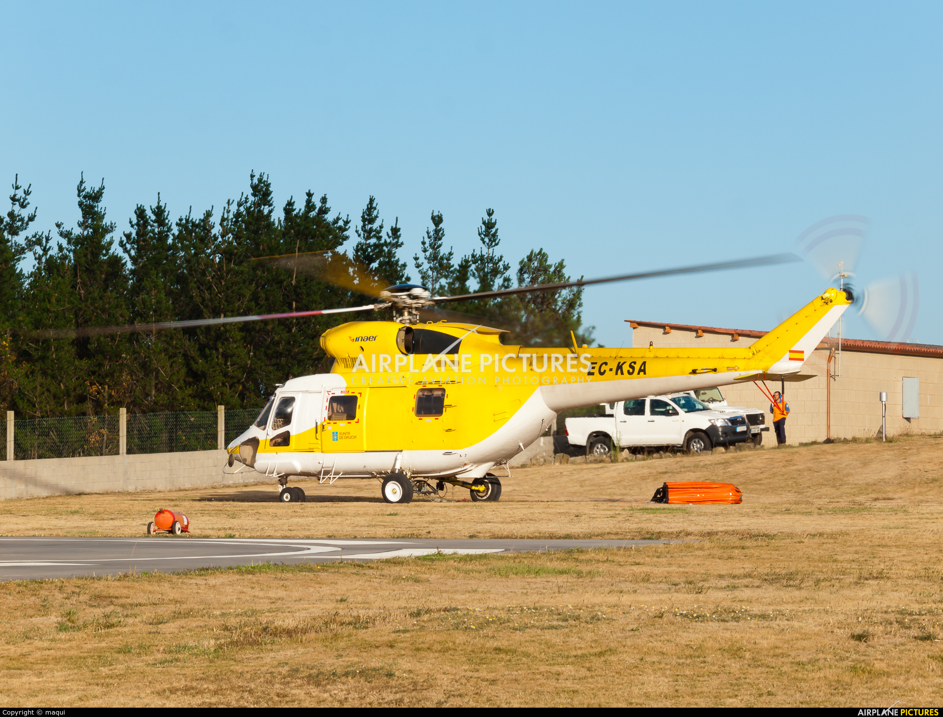 INAER EC-KSA aircraft at La Coruña - Base de Lomba