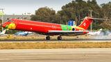 Rare visit of Danish Air Transport MD-83 to Malaga