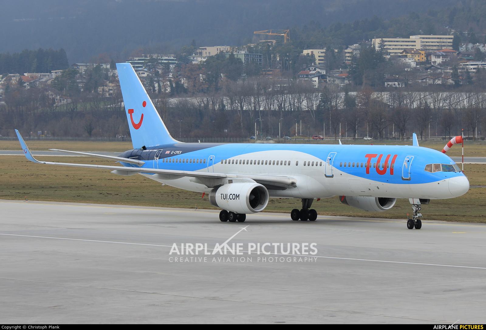 TUI Airways G-CPEV aircraft at Innsbruck