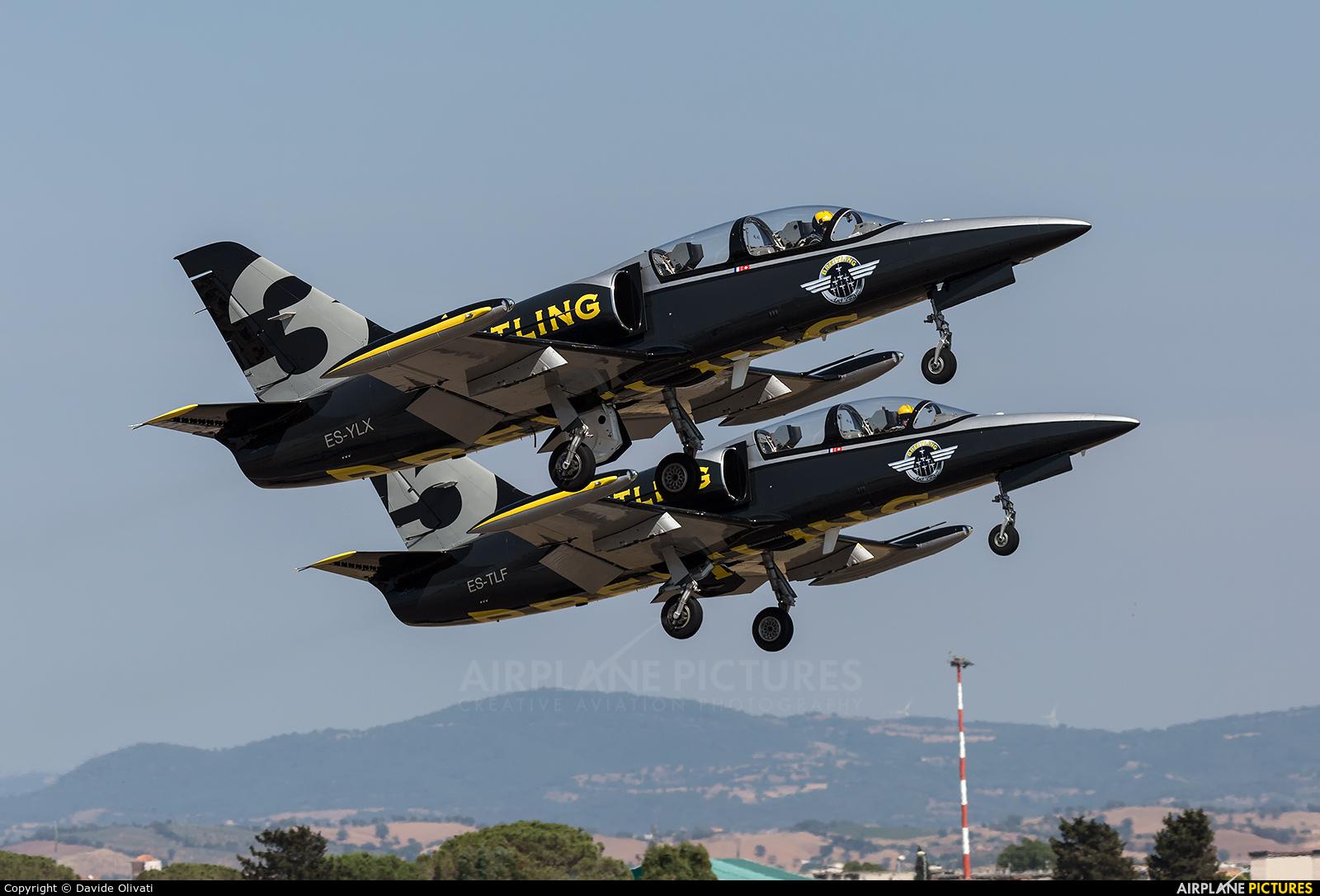 Breitling Jet Team ES-YLX aircraft at Grosseto - Corrado Baccarini