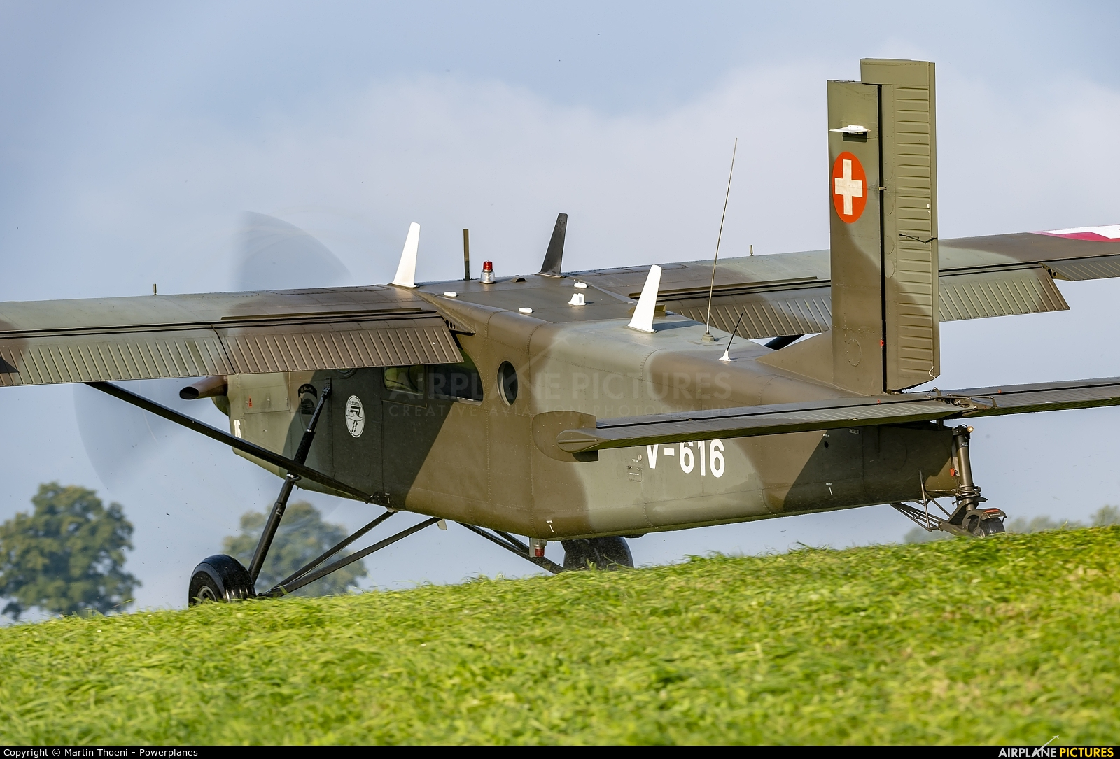 Switzerland - Air Force V-616 aircraft at Off Airport - Switzerland