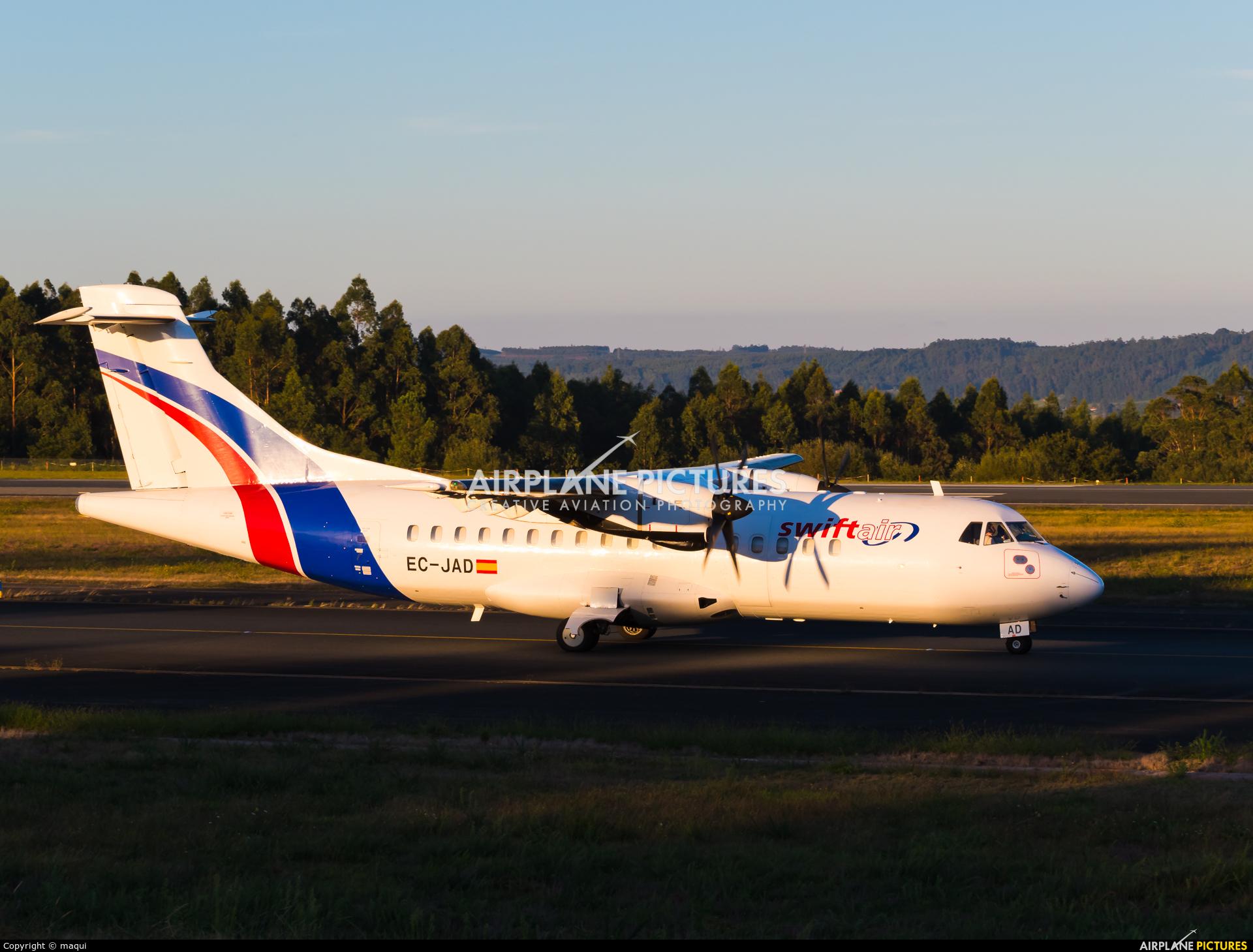 Swiftair EC-JAD aircraft at Santiago de Compostela